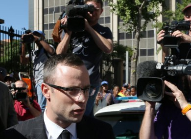 Pistorius arrives in court this week