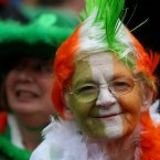 People of all ages gathered on Dublin's O'Connell Street.<span class=