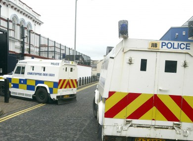 PSNI vehicles in Northern Ireland