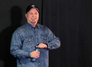Garth Brooks at Croke Park stadium, Dublin, during his concert announcement.