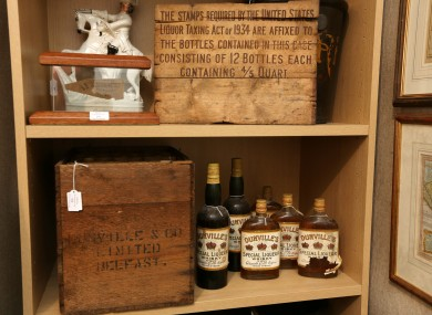 A haul of Dunvilles Three Crown Belfast whiskey, distilled between the 1870's and 1930's and auctioned last year.