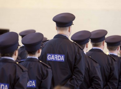 New Garda Reservists listen intently to interim Garda Commissioner Noirin O'Sullivan.
