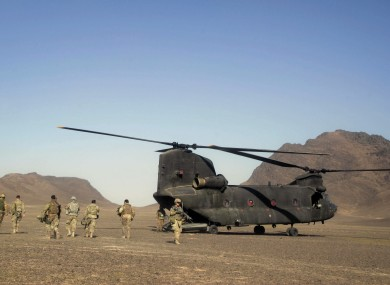 File Photo: Soldiers part of the NATO- led mission in Afghanistan.