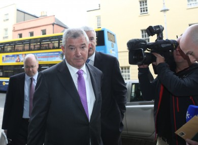 BOI chief Richie Boucher arriving at Leinster House last September.