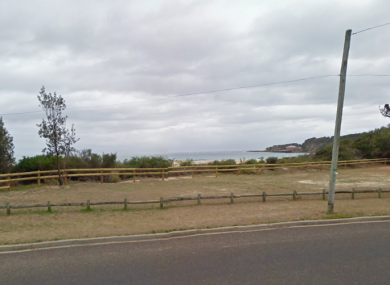 The coast road looking onto Tathra Beach