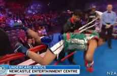 Boxer 'Bigshotcamp' falls over ropes on ring entrance, gets knocked out soon after