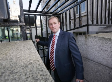 Enda Kenny arriving at at Government Buildings this morning.
