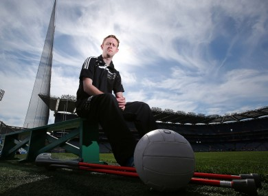 Injured Kingdom star Colm Cooper at Croke Park yesterday.