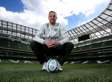 Meyler at the launch of the eFlow FAI Summer Soccer Schools yesterday.