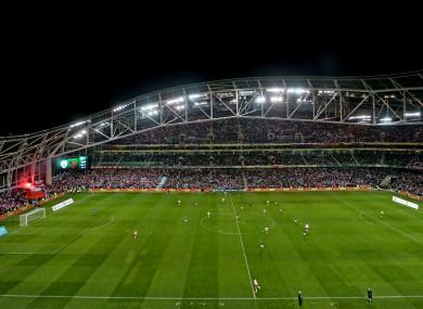 The Aviva Stadium will host the four games if the FAI's bid is successful.