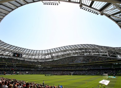 The Aviva Stadium could host a game at Euro 2020.