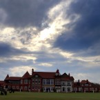A view of the Club house during a media day at the Royal Liverpool Golf Club, Hoylake. (Peter Byrne/PA Wire)<span class=