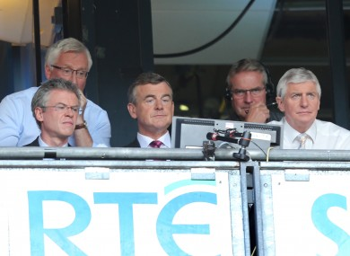 Brolly (left) has defended the RTÉ's GAA coverage in the wake of criticism.
