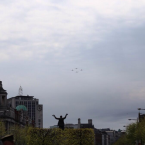 Air Corps fly past the GPO.<span class=