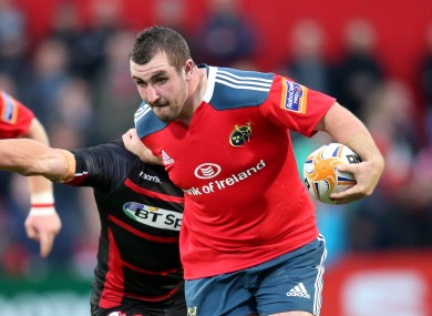 Cronin's power in attack has stood out for Munster this season.