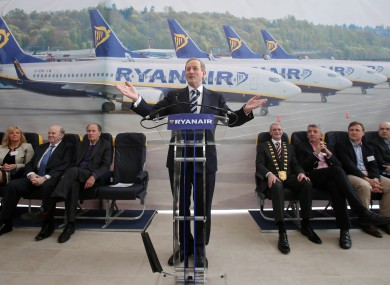 Taoiseach Enda Kenny at Ryanair's new campus.