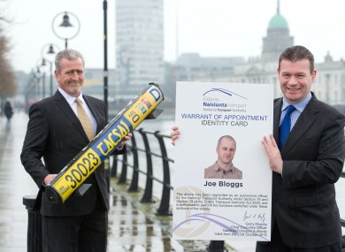 General Secretary of the National Irish Taxi Association (NITA) Jerry Brennan (left) with Junior Minister Alan Kelly.