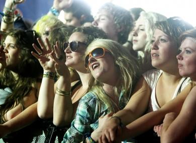 Fans at Oxegen in 2010