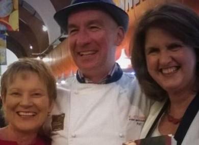 Phil Prendergast, Cork fishmonger Pat O'Connell and Joan Burton.