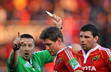 Yellow for ROG, Wally's late try and hurt; the last time Munster played Toulon