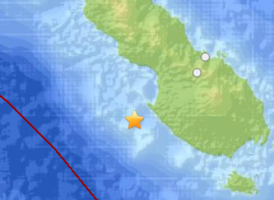 Earthquake of PNG today.