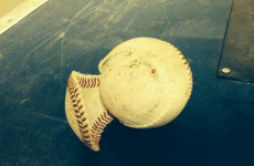 Milwaukee Brewers player literally knocks the cover off the baseball with incredible hit
