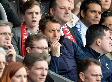 Tim Sherwood: chose to sit in the stands for Liverpool game.