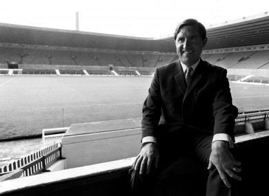 Manchester United manager Frank O'Farrell at Old Trafford in 1971.