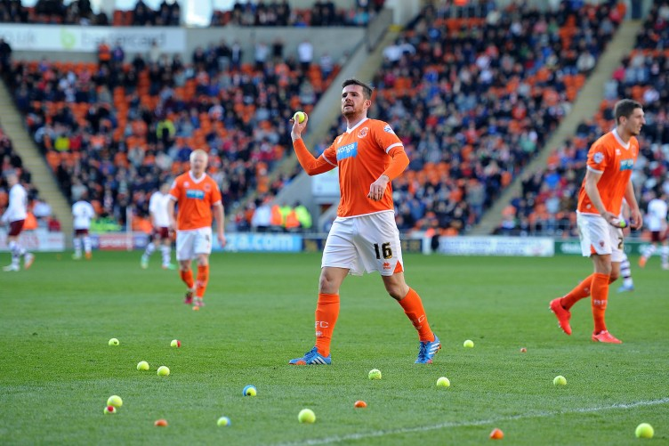 Blackpool Fans Throw 200 Tennis Balls And Tangerines Onto The Pitch