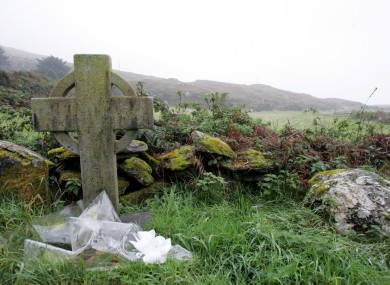 The memorial heaqdstone to Sophie Toscan du Plantier outside Toormoor on the Mizen Peninsula in West Cork.
