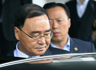 South Korean Prime Minister Chung Hong-won.