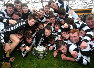 St. Kieran's players celebrate.