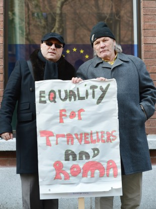 Travellers and Roma protest in Dublin last year to mark International Roma and Traveller Day.