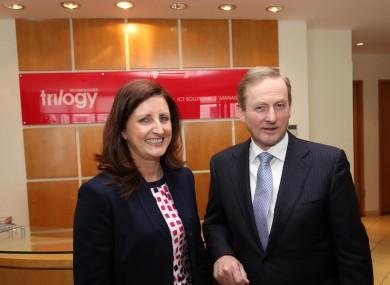 Trinity MD Edel Creely with Taoiseach Enda Kenny