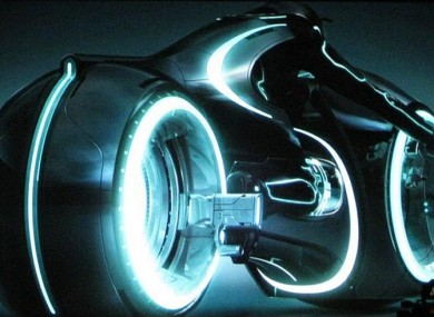 The light cycle from Tron.
