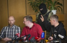 Pro-Russian rebels present peace-keeping 'prisoners of war' to international media