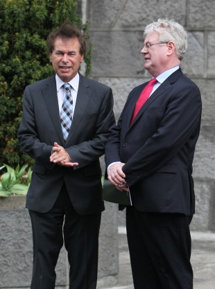 Alan Shatter and Eamon Gilmore at Arbour Hill just hours before the Minister dramatically resigned.