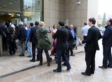 Queues at a Dublin motor tax office. (File photo)