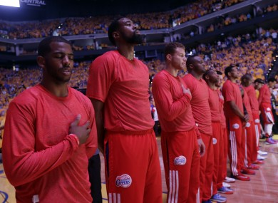 Clippers players wore their warmup jerseys inside as a protest against Sterling's comments.