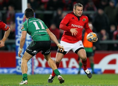 Fogarty in action for Munster against Connacht in 2011.