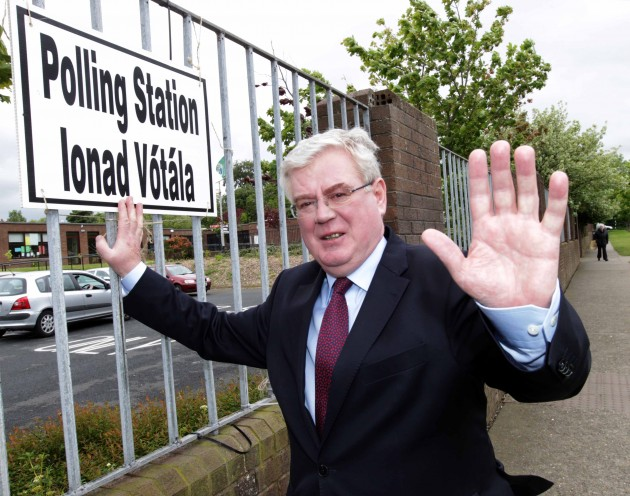 Eamon Gilmore Voting. Tanaiste and Minis