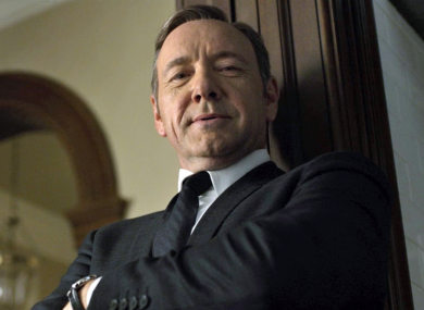 Kevin Spacey as the famously untrustworthy Frank Underwood in 'House of Cards'