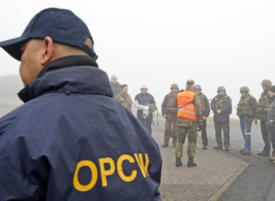 U.N. inspectors of the Organization for the Prohibition of Chemical Weapons, OPCW, pictured here after a training session in Germany.