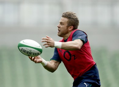 Ian Madigan pictured during training with Ireland on Tuesday.