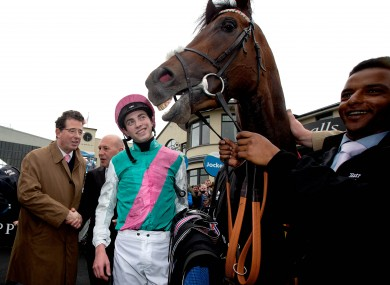 James Doyle with Kingman in the parade ring after winning The Tattersalls Irish 2,000 Guineas.