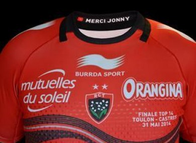 Two stars and a 'Merci Jonny' on the Toulon jersey for Saturday.