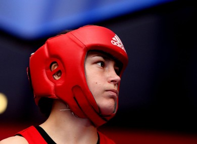 Katie Taylor is raring to go following an extensive break from competitive boxing.