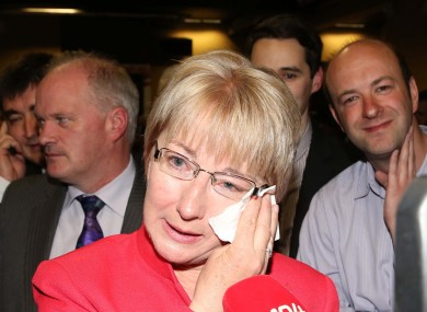 Local election count. Fianna Fail Mary Hanafin was elected as local councelor for Blackrock.