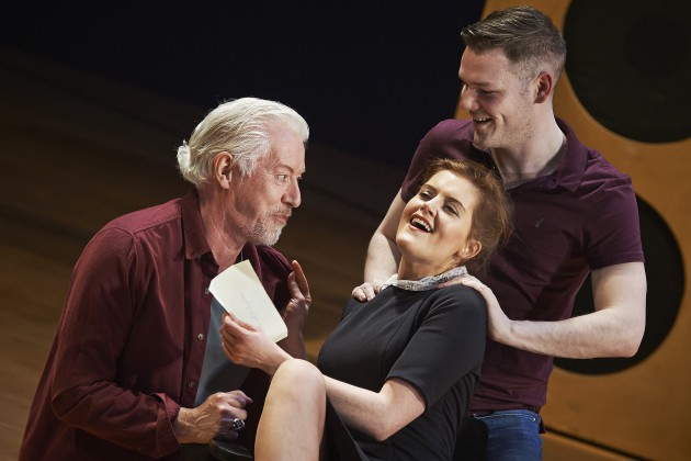 Nick Dunning, Ruth McGill and Lloyd Cooney in the Abbey Theatre's new production of Twelfth Night by William Shakespeare.  Pic  Ros Kavanagh