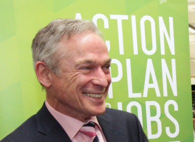 Minister for Jobs Richard Bruton